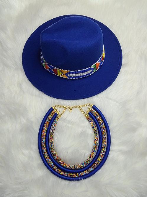 The Maasaï hat & necklace set
