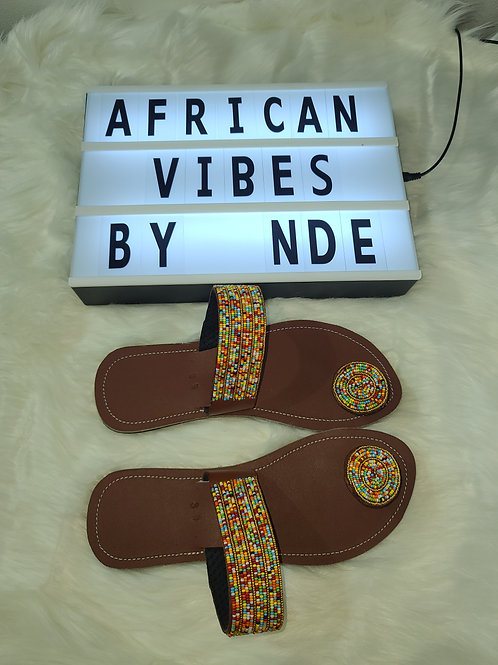 African beaded masai sandal