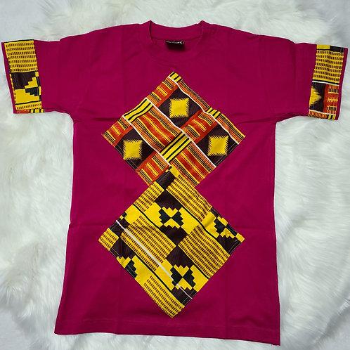 Ankara print customized t-shirts / adults t-shirts