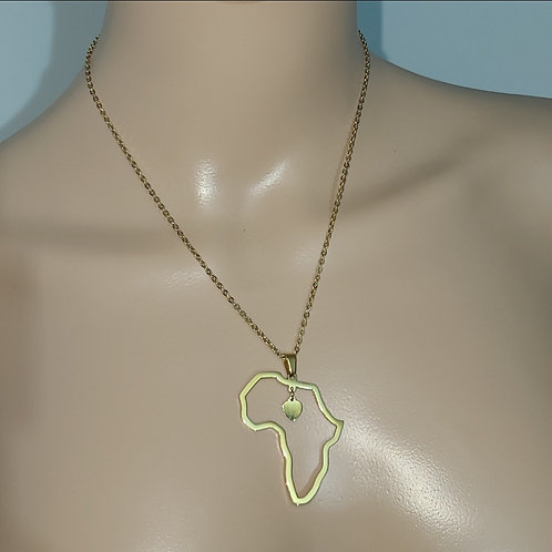 African map necklace