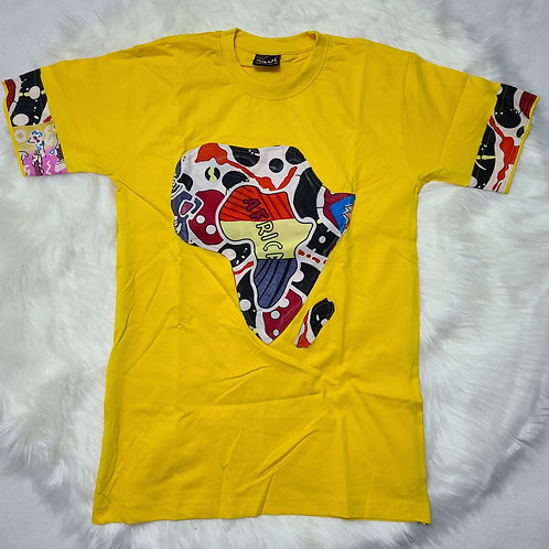 Africa map customized t-shirts / adults t-shirts