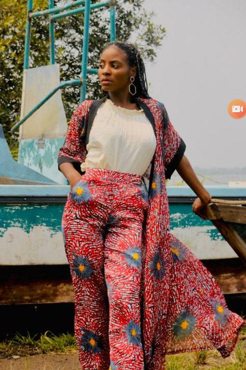 African print Silk matching set