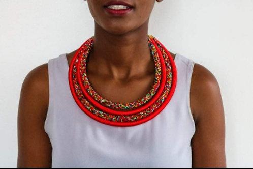 The Maasaï beaded necklace