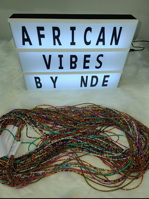 African waist multicolor beads / Belly beads