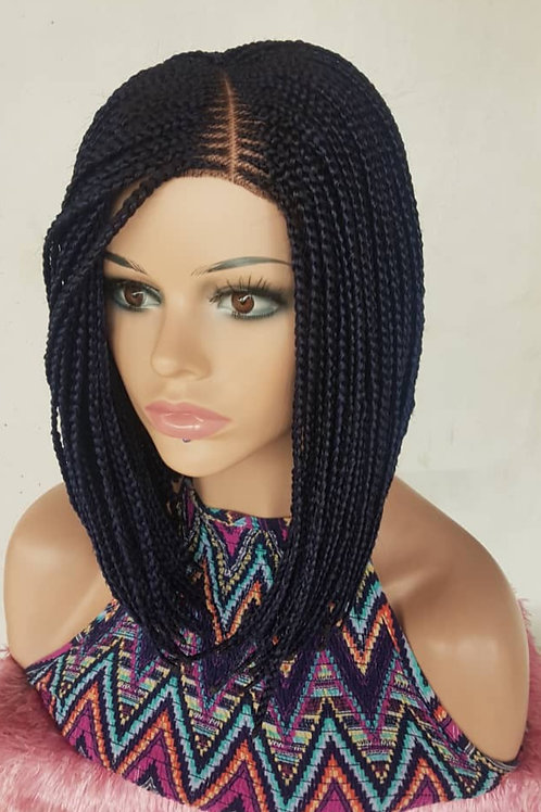 Lace closure bob braid wig