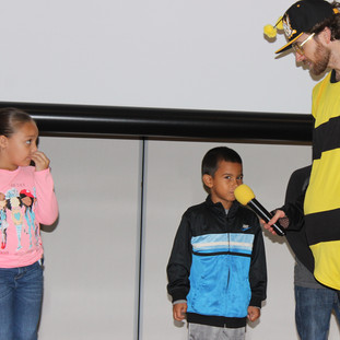 Bee True To You calls up students on stage