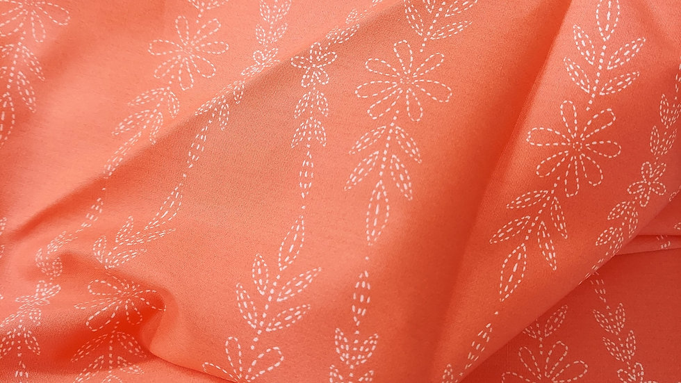 Art Gallery Premium Cotton: Embroidered Garland Peony- Merriweather 36306