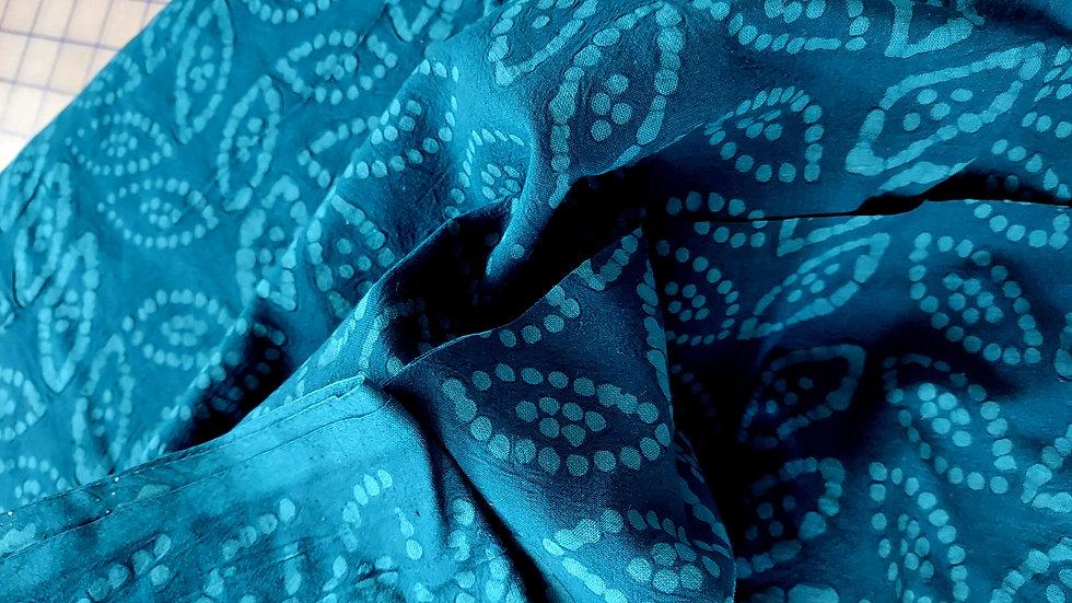 Diamond Textiles Yarn Dyed Cotton Embossed CE 21154 Mosaic Blue