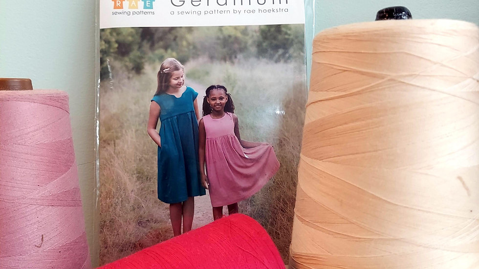The Geranium Dress Made by Rae Sewing Pattern 6-12