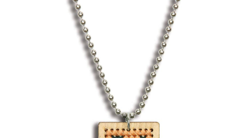 Square Monogram Necklace Dimensions Wooden Counted Cross Stitch Kit 1""