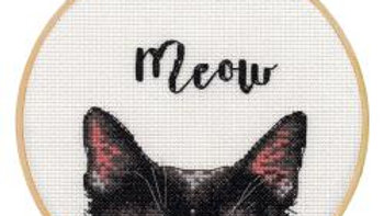 "Meow Dimensions Counted Cross Stitch Kit W/Hoop 6"" (14 Count)"