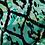 Thumbnail: Green Africanna Rayon Challis Print Woven Fabric