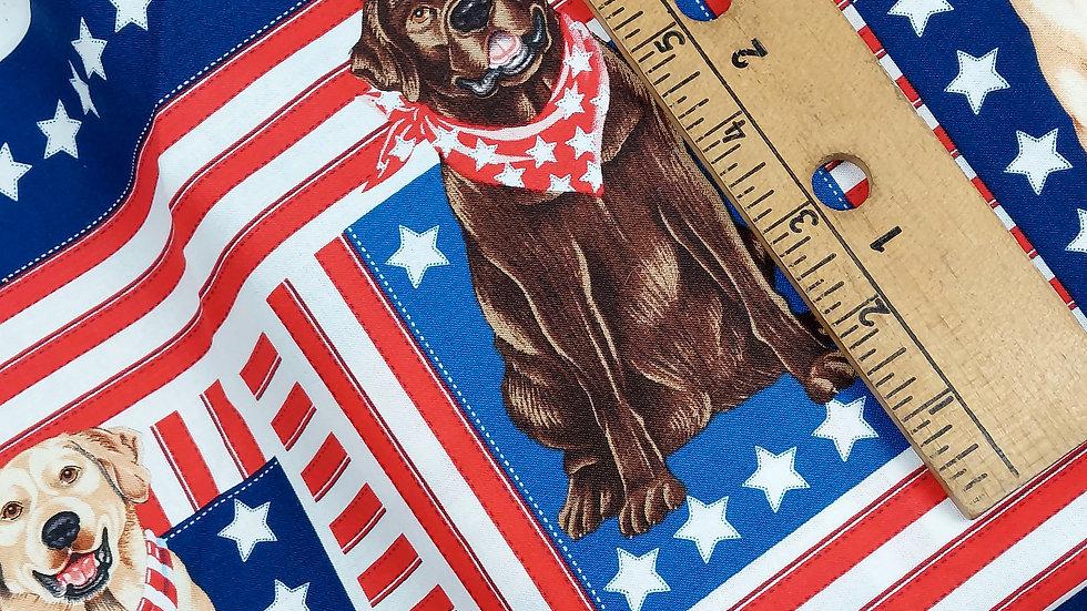 Timeless Treasures: Dog C3515 USA Blue