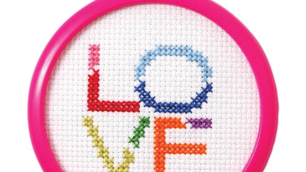 "Love Mini Cross Stitch 3"""