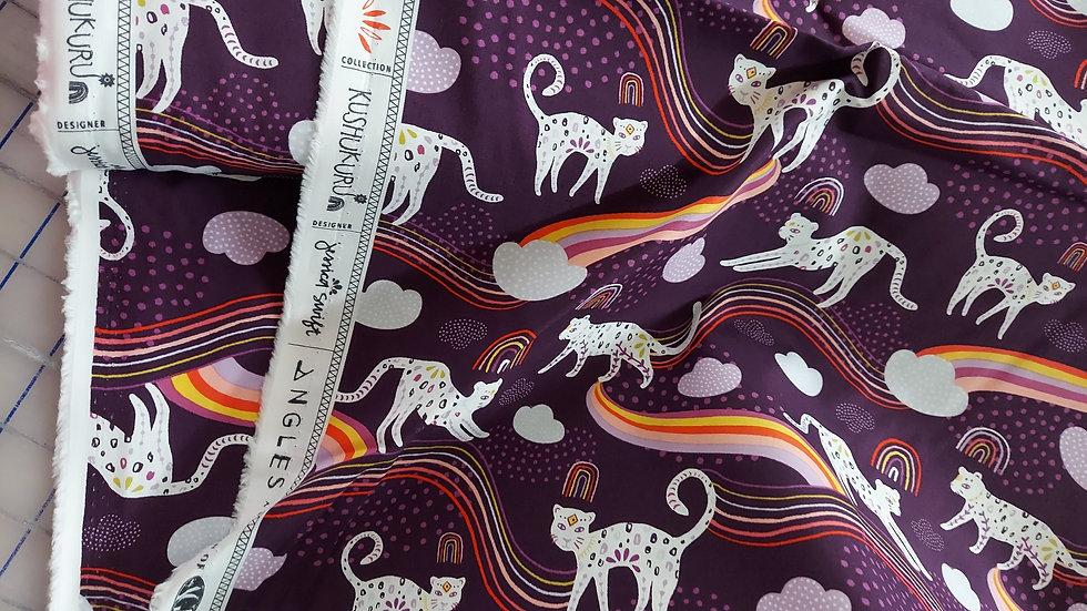 Art Gallery Premium Cotton: Kushukuru,Rainbow Jaguar 23704