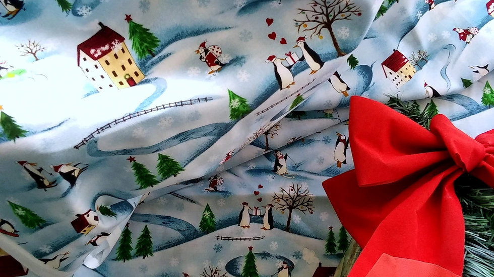 Meri Penguins by Red Rooster Fabrics