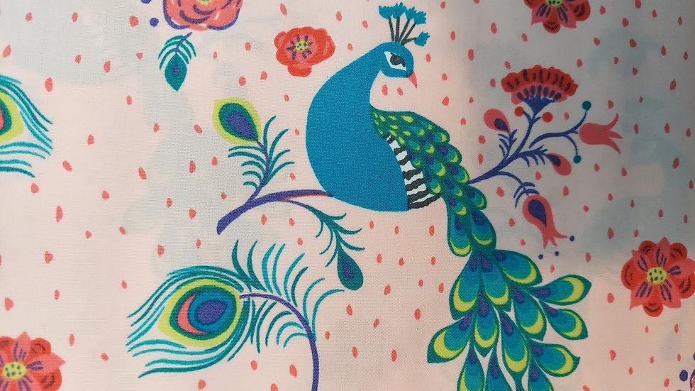Monaluna Organic Poplin Pretty Peacock Cotton Fabric