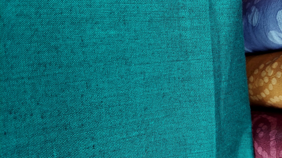 Textile Creations: Luminary- Teal Black Yarn Dyed Woven Fabric 23007