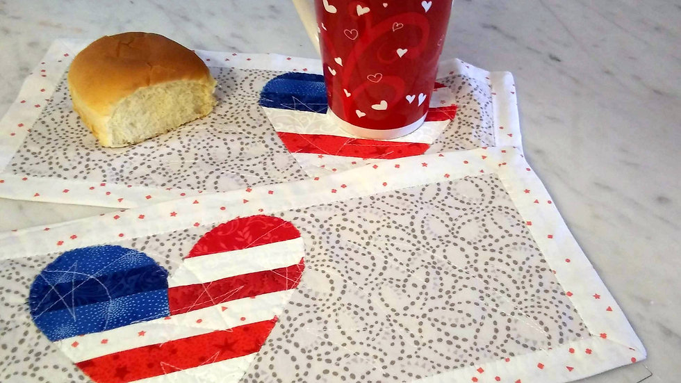 Kit of the Month: Star Spangled Mug Rug Set