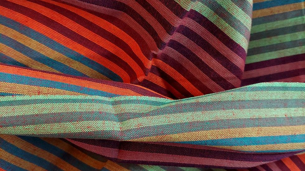 Textile Creations: Santa Fe Stripe SF-358 Orange/Wine