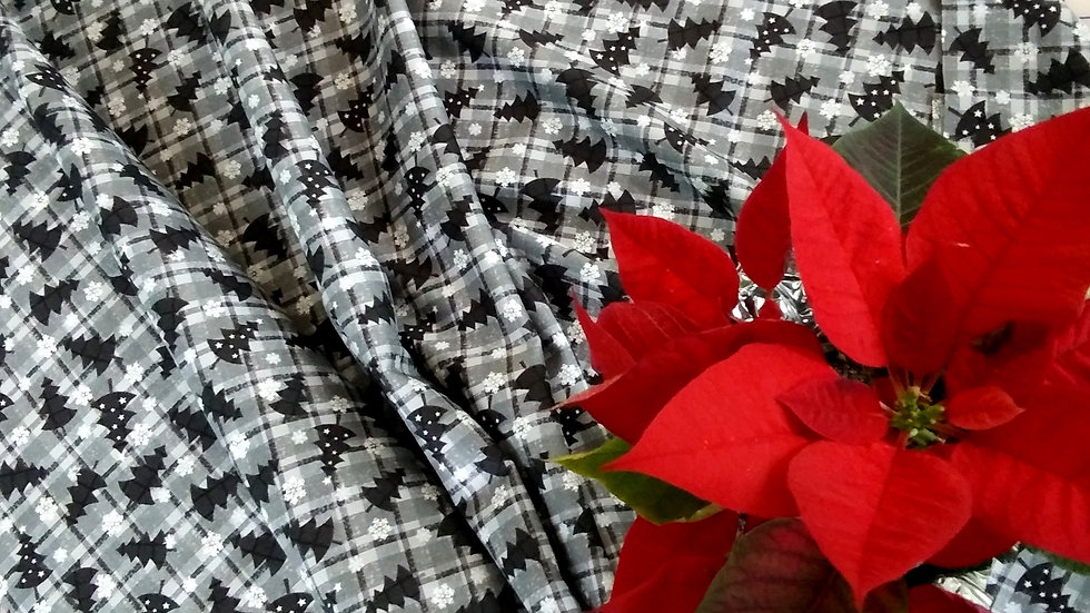 PBS Fabric Red & Grey Christmas 11418-65031