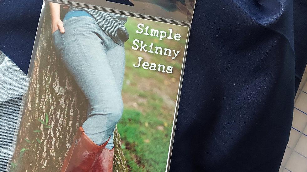 "Foust Textiles: Stretch Denim 7.5 Oz 45"" Fabric"