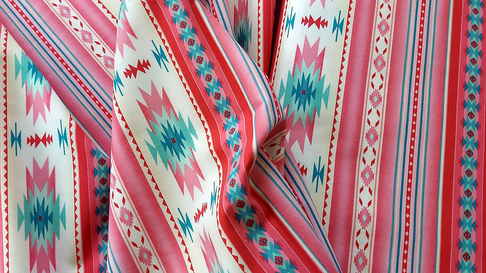 Elizabeth's Studio Tucson Stripe: 201 Soft Pink Cotton Fabric