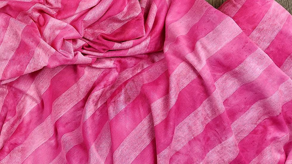 Fuchsia Rayon Spandex Stripe Jersey Knit Designer Deadstock Fabric