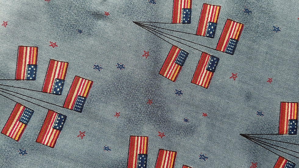 Sullivans International Flag Tree 59426 USA Flag Patriotic Cotton Fabric