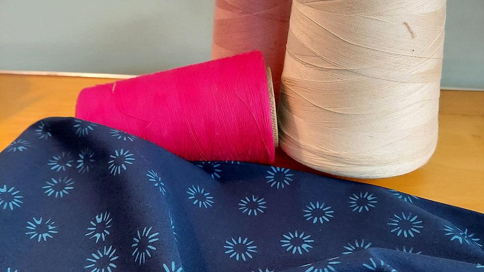 Batik Textiles: Simply Primitive Navy Blue 0842