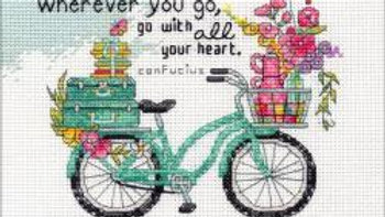 "Wherever You Go Dimensions Counted Cross Stitch Kit 7""X5"" (14 Count)"