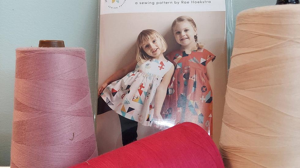 The Geranium Dress Made by Rae Sewing Pattern newborn - 5t