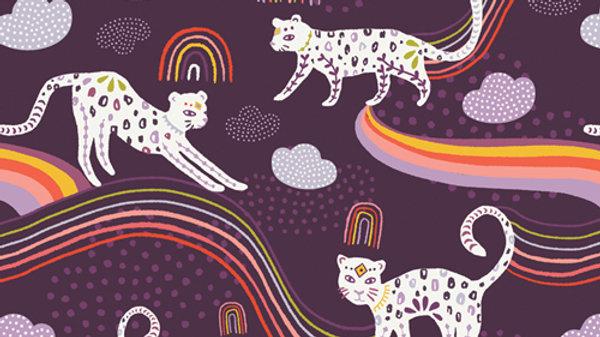 Art Gallery Premium Cotton-Kushukuru,Rainbow Jaguar 23704