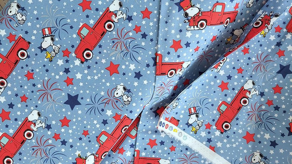 Spring Creative Snoopy Patriotic: Peanuts Everyday 69980 Cotton Fabric