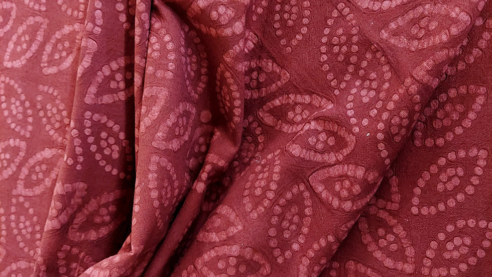 Diamond Textiles Yarn Dyed Cotton Embossed Merlot 21154