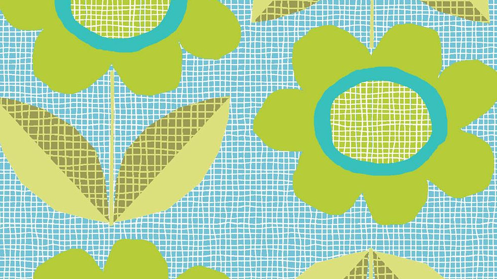 Monaluna Organic Cotton- Blooms Blue #83