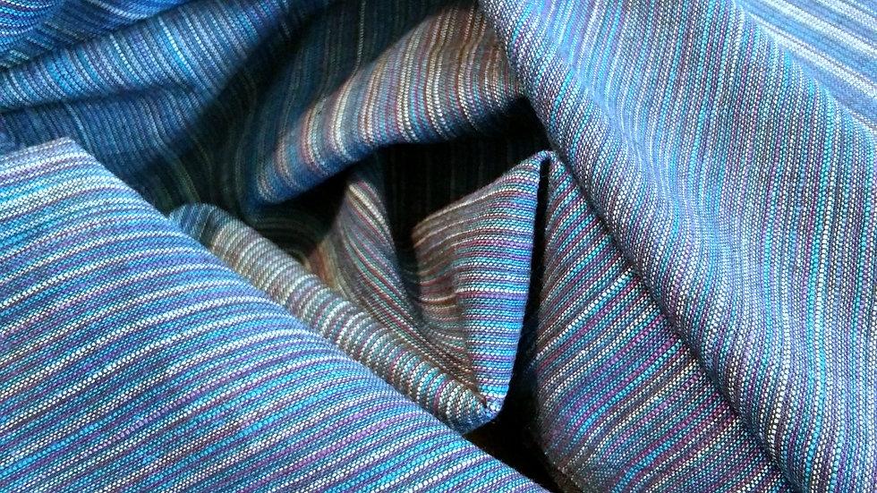 Textile Creations: Winding Ridge Ikat Stripe in Purple and Teal 050