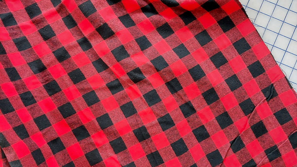 Textile Creations: Windstar Flannel Red/Black Buffalo Check 052