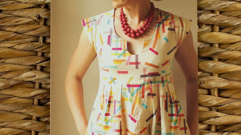 Washi Dress- Made by Rae Printed Sewing Pattern