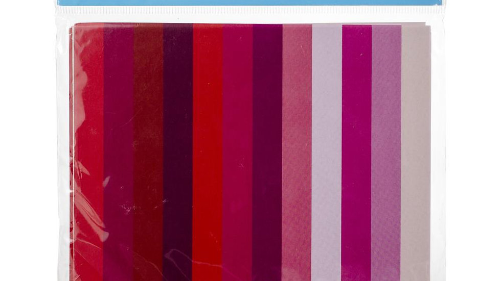 "Reds Origami Paper 5.875""X5.875"" 48/Pkg"