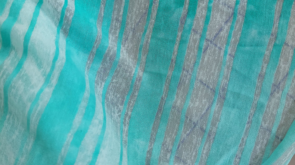 Green Heather Rayon/Spandex Stripe Jersey Knit Deadstock Fabric