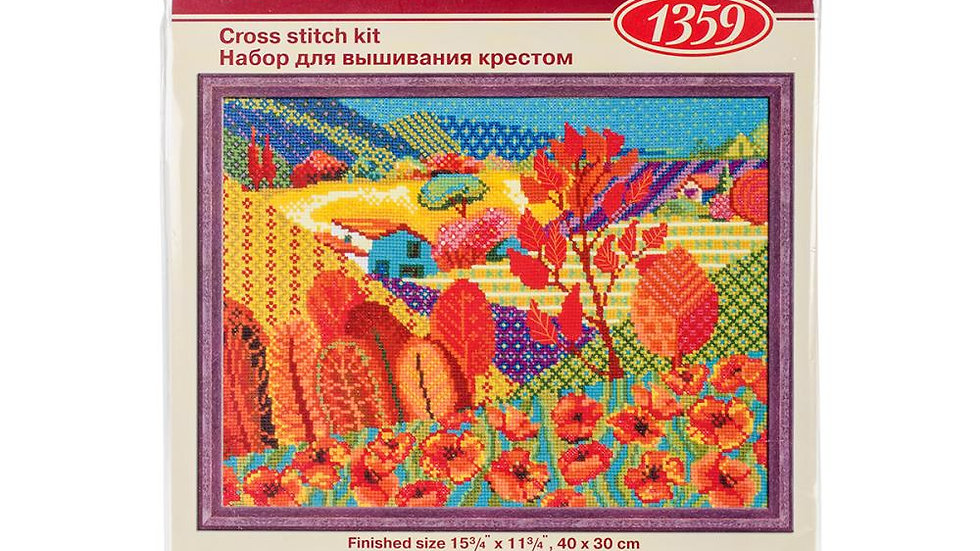 "Meadow Of Fairytale (10 Count) Counted Cross Stitch Kit 15.75""X11.75"""