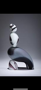 Horizontal Black and White Cairn