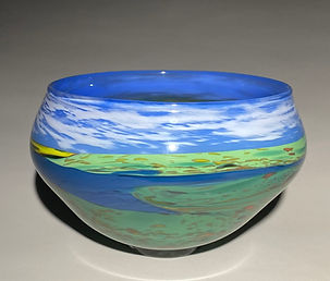 Lake Landscape Vessel
