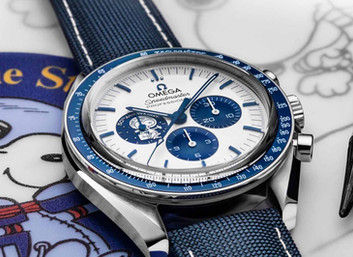 Omega has launched a 50th anniversary Snoopy Speedmaster