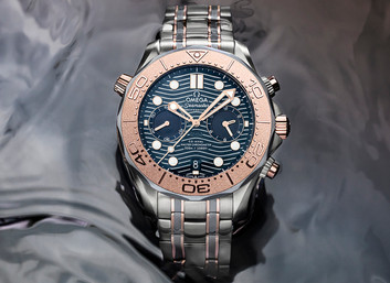 Omega Unveils New Seamaster Diver 300M Chronograph Watch In Titanium, Sedna Gold, And Tantalum