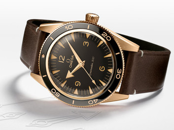 Omega unveils first Seamaster 300 in exclusive Bronze Gold