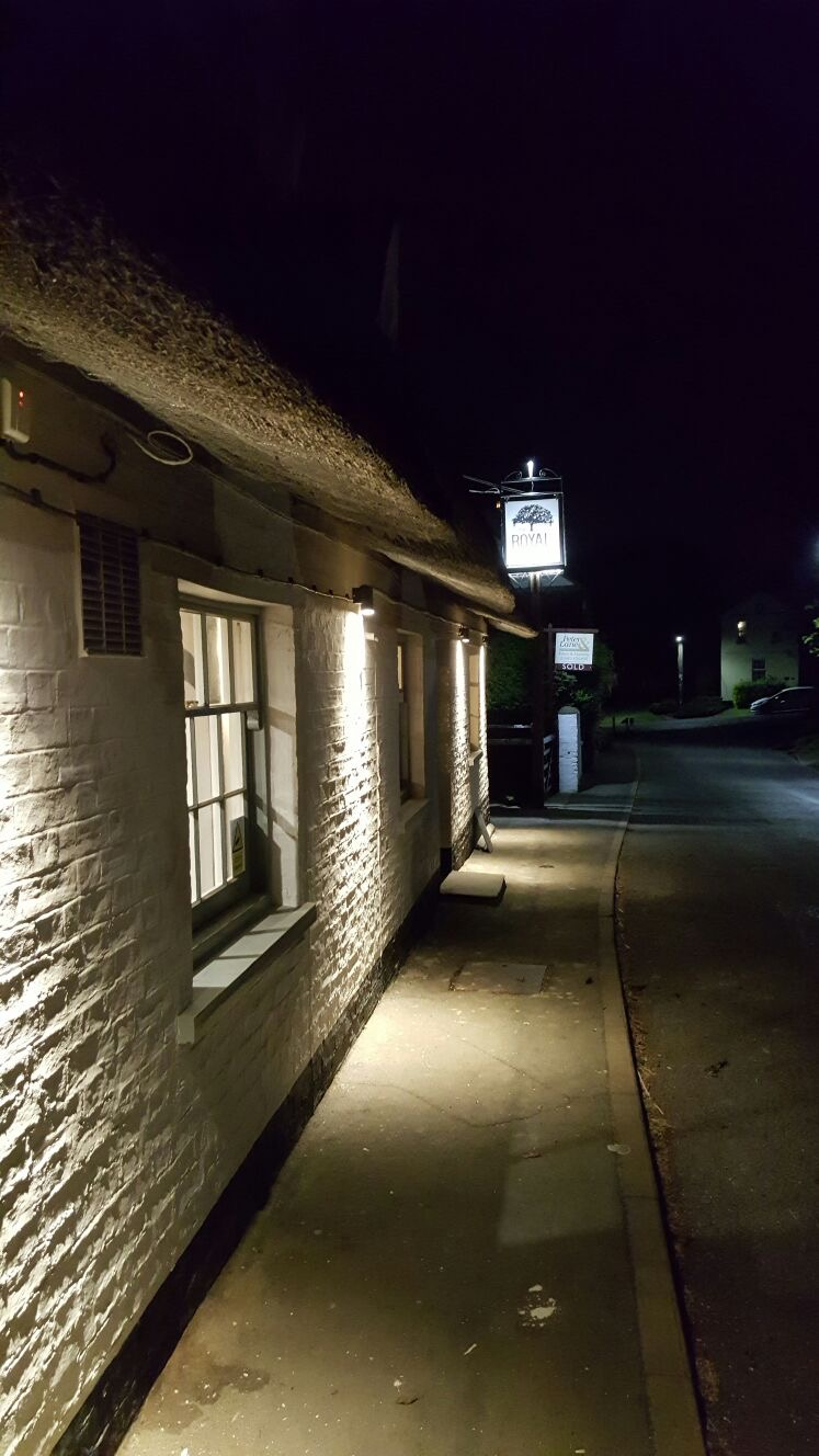 The Royal Oak at night