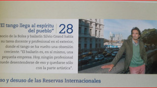 """El Tango llega al espiritu del pueblo"" Magazine -La Bolsa Hoy-"