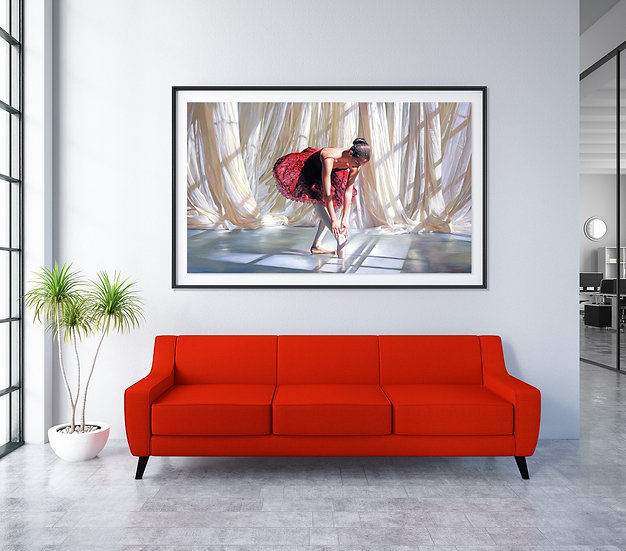 'Dancer In Red' - Limited Edition Giclee Print on Canvas